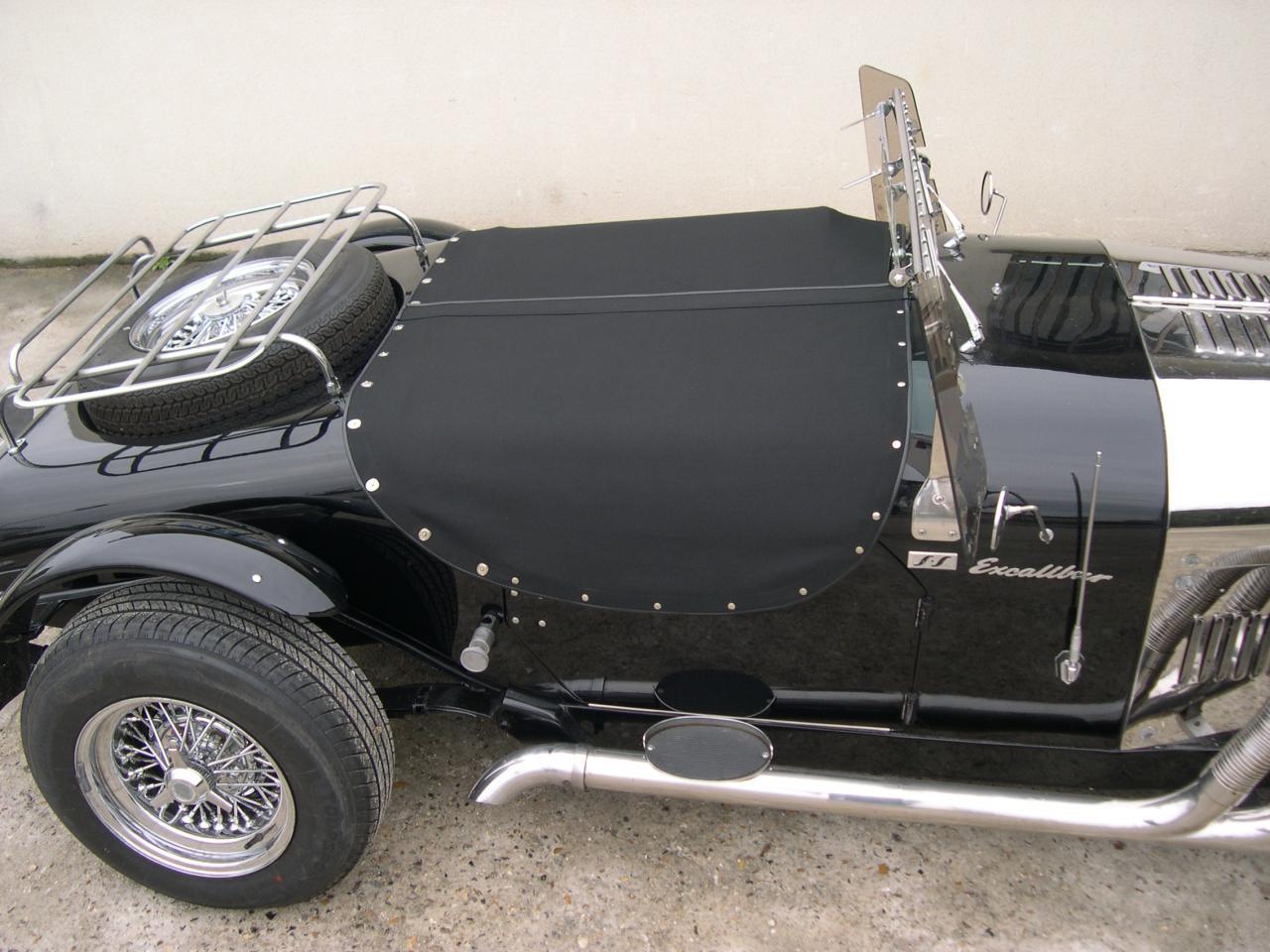 Realisation couvre tonneau sur excalibur roadster