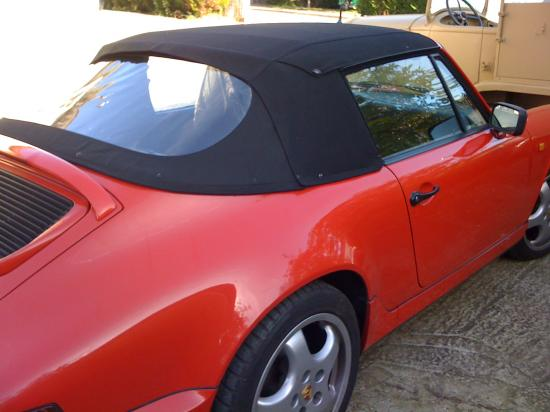 Changement capote PORSCHE 911 modele 964
