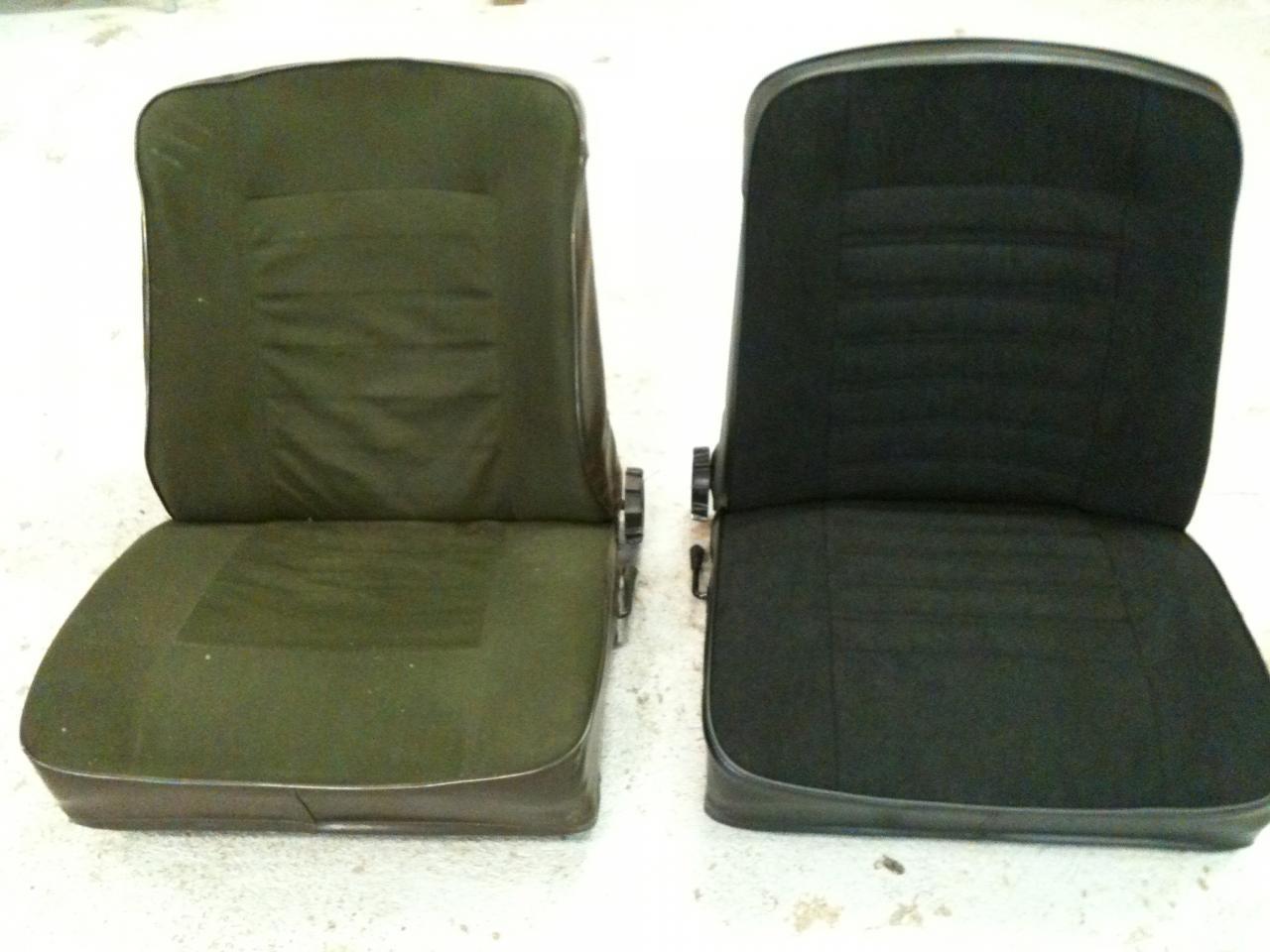Réalisation sièges renault 5 ls (avant ,après)