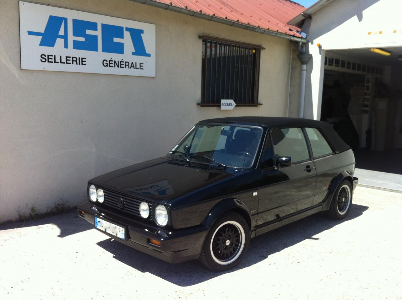 Changement capote vw golf 1