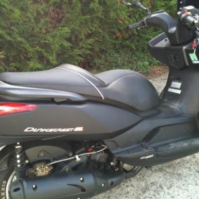 réalisation selle de scooter kymco